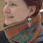 The Slippy Cowl- available as a kit in ModeLuxe and MordeWerk Worsted.