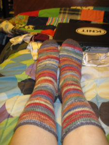 Random stripes, perfect socks!