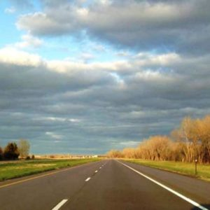 The road home through Nebraska.
