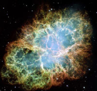 The Crab Nebula, taken by the Hubble telescope. This is the inspiration for this colorway.